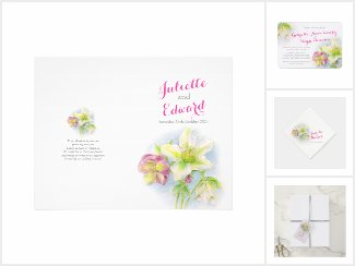 Hellebore watercolor wedding
