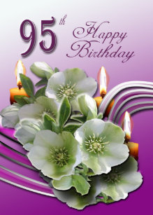Wishes birthday cards zazzle hellebores 95th birthday wishes greeting card m4hsunfo