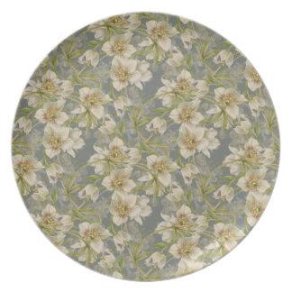 Hellebores pattern plate