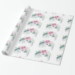 Helleborus Anemone Peony Mauve Pink White Bouquet Wrapping Paper