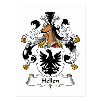 Hellen Family Crest Postcard