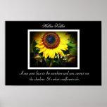 Hellen Keller Sunflower quote Poster