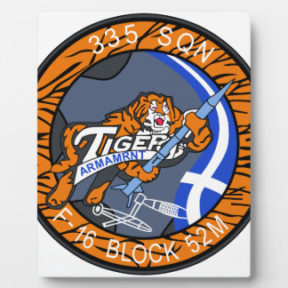 HELLENIC AIRFORCE CAMBRAI TIGER MEET 2011 F-16 PAT PLAQUE