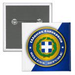 Hellenic Republic (Greece) Medallion Pinback Button