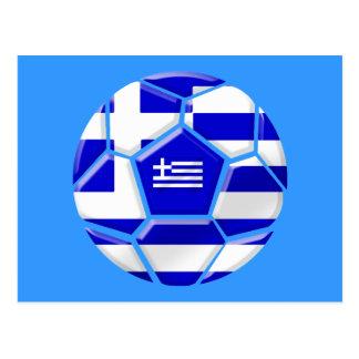Hellenic Soccer football fans Greek flag gifts Post Card