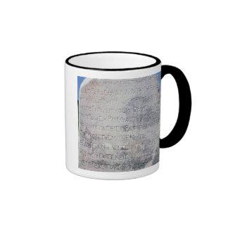 Hellenistic epigraph stone , found in Ephesus Coffee Mugs
