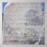 Hellenistic epigraph stone , found in Ephesus Print