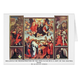 Heller-Altar: Reconstruction Of The Open Altar Greeting Card
