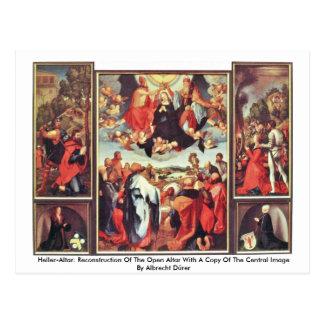 Heller-Altar: Reconstruction Of The Open Altar Postcard