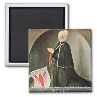Heller-Altar Right Wing By Albrecht Dürer 2 Inch Square Magnet