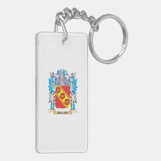 Heller Coat of Arms - Family Crest Rectangular Acrylic Keychains
