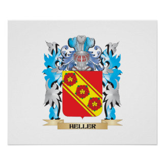 Heller Coat of Arms - Family Crest Posters
