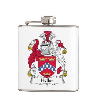 Heller Family Crest Hip Flask