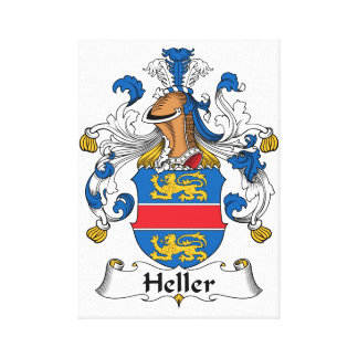 Heller Family Crest Gallery Wrap Canvas