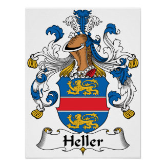 Heller Family Crest Posters