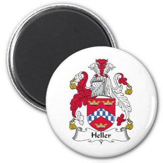 Heller Family Crest Refrigerator Magnet