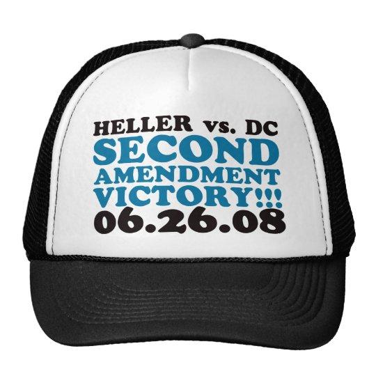 Heller v DC - 2nd Amendment Victory - Blue Trucker Hat