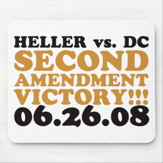 Heller v DC - 2nd Amendment Victory - Orange Mouse Pad