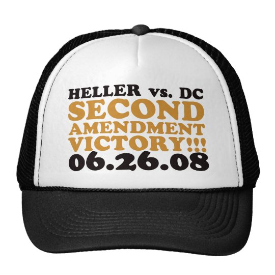 Heller v DC - 2nd Amendment Victory - Orange Trucker Hat