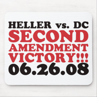 Heller v DC - 2nd Amendment Victory - Red Mouse Pad