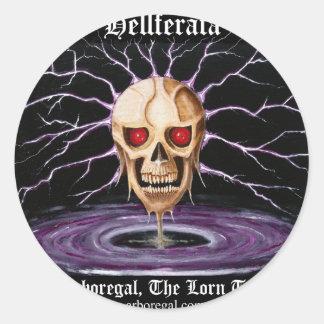 Hellferata T Bk Classic Round Sticker