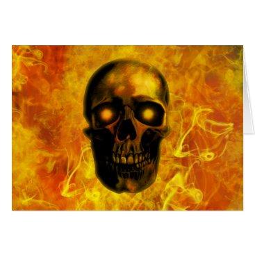 Halloween Themed Hellfire skull card