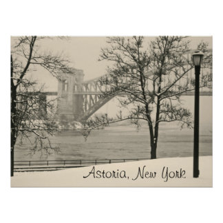 Hellgate Bridge, Astoria, New York Poster