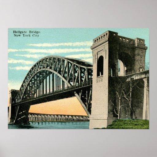 Hellgate Bridge, New York City Vintage Poster