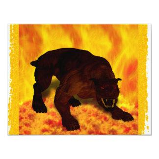 """Hellhound Invitación 4.25"""" X 5.5"""""""