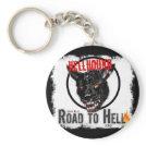 Hellhound Round Keychain