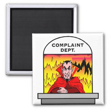 Halloween Themed Hellish Customer Service Magnet