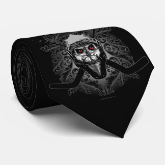 Hellish Hockey Goalie Tie