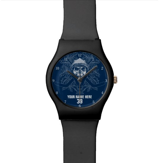 Hellish Hockey Goalie Wristwatch