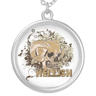 Hellish Skull Necklace