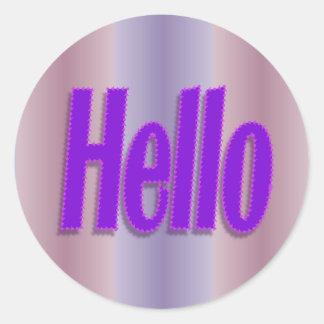 Hello Friend Stickers | Zazzle