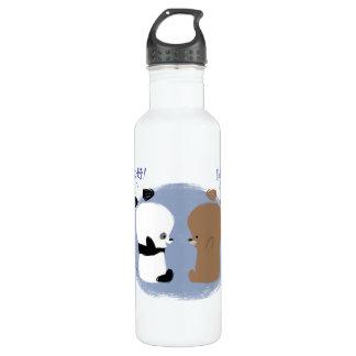 Hello! 2 Bears Water Bottle 24oz Water Bottle