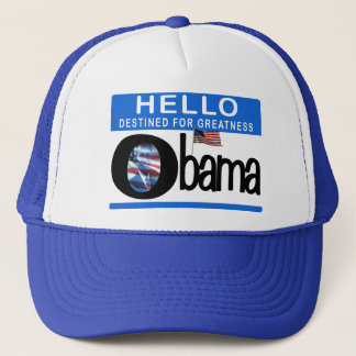 Hello 44th President Barack Obama Trucker Hat