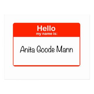 Hello Anita Goode Mann Postcard