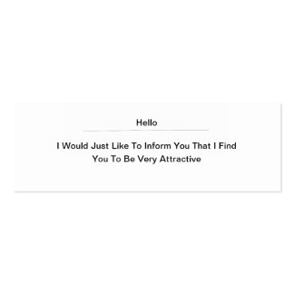 Hello Attractive Double-Sided Mini Business Cards (Pack Of 20)