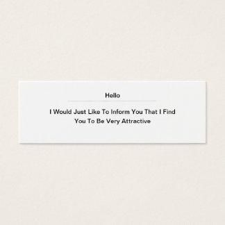Hello Attractive Mini Business Card