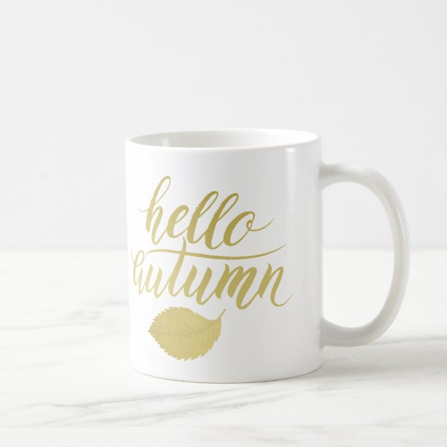 Hello Atumn | Faux Gold Brush Script