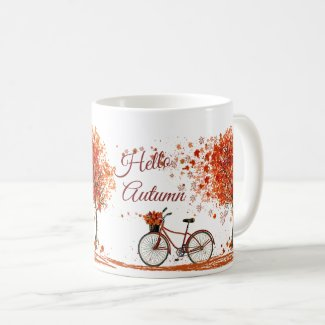 """Hello Autumn"" coffee mug"