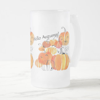 """Hello Autumn!"" Frosted Mug"