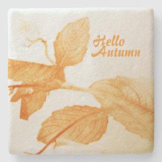 Hello Autumn Stone Beverage Coaster