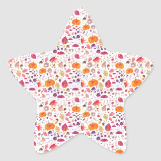 Hello Autumn Star Sticker