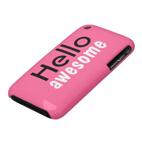 """""""Hello Awesome"""" iPhone 3GS Case"""