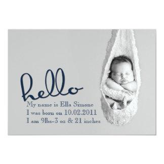Hello Baby - birth announcement