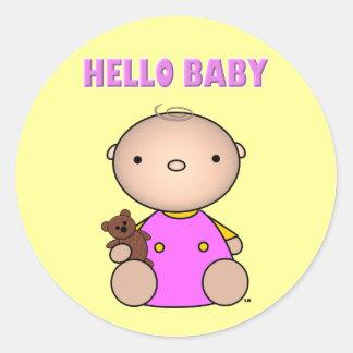 Hello Baby Girl Sticker