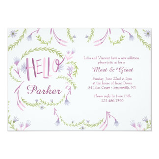 Hello Baby Meet and Greet Invitation