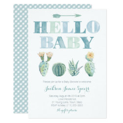 Hello Baby Prickly Pear cards for Baby Shower